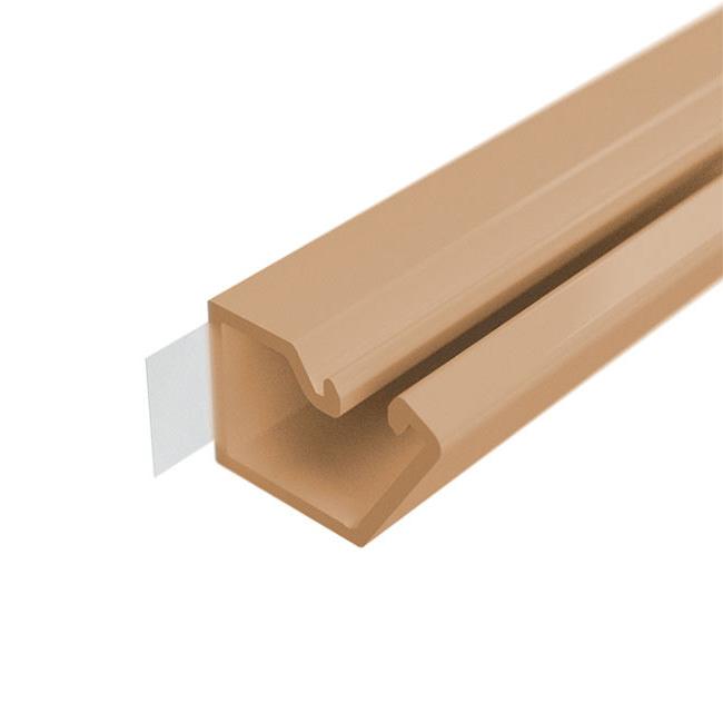 Мини-канал настенный на самоклейке DKC 10x10 коричневый