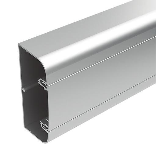 Алюминиевый кабель канал DKC 90x50 серебристый