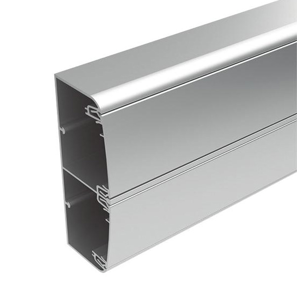 Алюминиевый кабель канал DKC 140x50 серебристый