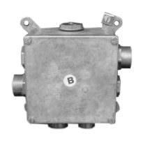 Алюминиевая ответвительная коробка 120x120